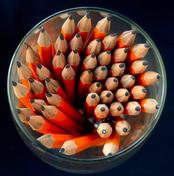 Bleistifte im Glas