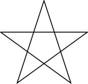 五芒星(星型正五角形)の形