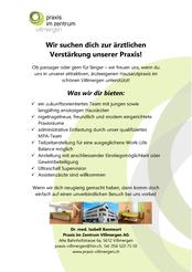 Inserat Hausarzt Praxis im Zentrum Villmergen