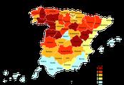 Mapa del envejecimiento de la población española (2005)