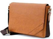 Old School Laptoptasche aus Leder für Herren und Damen aus Saffas