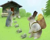 Besuch vom Osterhasen