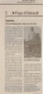 Vincent Bougette mise sur le bio dans l'Hérault