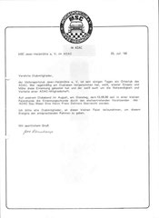 Information an die Mitglieder 1986