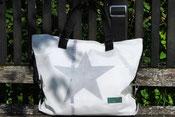 Bild Recyclingtasche, Handtasche mit Stern, Airbag