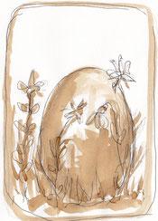 Das goldene Ei - Illustration von Ingeborg Schmidt-Kruppa