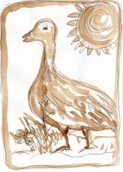 Die goldene Gans - Illustration von Ingeborg Schmidt-Kruppa