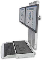 ICWUSA VT21 ロープロファイルワークステーション デュアルモニターマウント