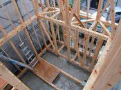 木組の和小屋小住宅