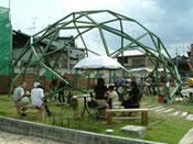 木のジオデシックドーム