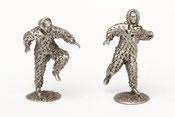 Homme de feuilles Doudou Figurine étain miniature Lumeçon