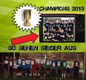 Sieger im Pokalfinale 2013 beim FV Ubstadt - die B-Jugend des SG Bruchsal klicken für Größer