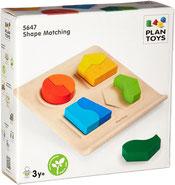 Tableau des formes - Plan toys - 8 pièces
