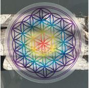 6 X Fleur de vie acryl 9,5cm couleur 9,90€