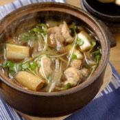 ねぎとごぼうの鶏鍋