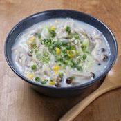 きのこの中華豆乳スープ