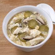 きゅうりと豆腐の中華スープ