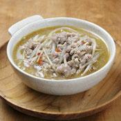 ごぼうと豚ひき肉の中華スープ