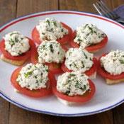 豆腐のバジルペーストonトマト