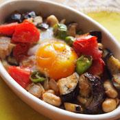大豆とトマトの簡単ココット