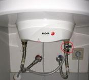 Desague conectadoa válvula de seguridad de térmo electrico