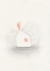 """""""Rue Mozart"""", dessin, graphite et crayon de couleur sur papier, 14,8 x 21 cm, 2016"""