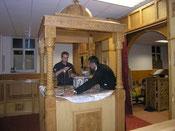 Bau des Altares des Heiligen Georg