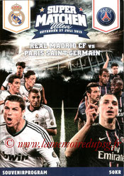 Programme  PSG-Real Madrid  2013-14 (Amical à Goteborg)