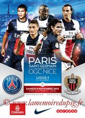 Programme  PSG-Nice  2013-14