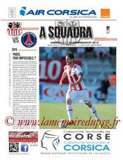 Programme  Ajaccio-PSG  2013-14