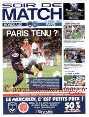 Programme  Bordeaux-PSG  2013-14