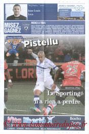 Programme  Bastia-PSG  2013-14