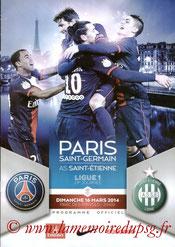 Programme  PSG-Saint Etienne  2013-14