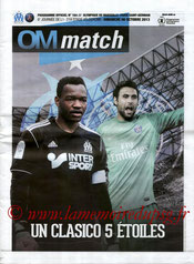 Programme  Marseille-PSG  2013-14
