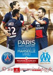 Programme  PSG-Marseille  2013-14