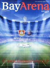 Programme  Bayer Leverkusen-PSG  2013-14