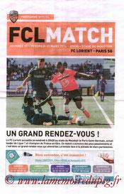 Programme  Lorient-PSG  2013-14