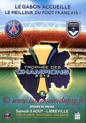 Programme  PSG-Bordeaux  2013-14 (Trophée des Champions à Libreville)