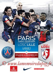 Programme  PSG-Lille  2013-14