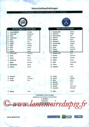 Feuille de match  Strum Graz-PSG  2013-14