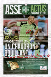 Programme  Saint-Etienne-PSG  2013-14