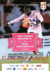 Programme  Evian TG-PSG  2013-14