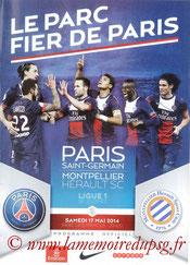 Programme  PSG-Montpellier  2013-14