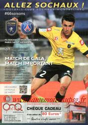 Programme  Sochaux-PSG  2013-14