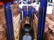 Schwimmende Verlegung in Flüssigboden