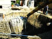 Wärmespeicher aus Flüssigboden (thermisch stabilisierender Flüssigboden)