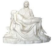 Pietà statue cm. 130 - white