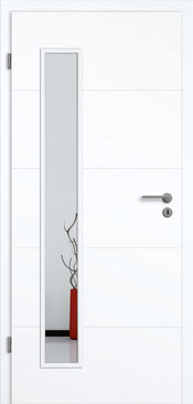 konturTüren Genua GA5,Weißlack 3.0 Extraweiß, Designkante | Lichtausschnitt LA 008 B