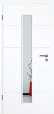 konturTüren Genua GA5 Weißlack 3.0 Extraweiß, Designkante | Lichtausschnitt LA 008 M