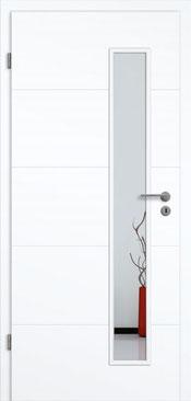 konturTüren Genua GA5 Weißlack 3.0 Extraweiß, Designkante | Lichtausschnitt LA 008 S
